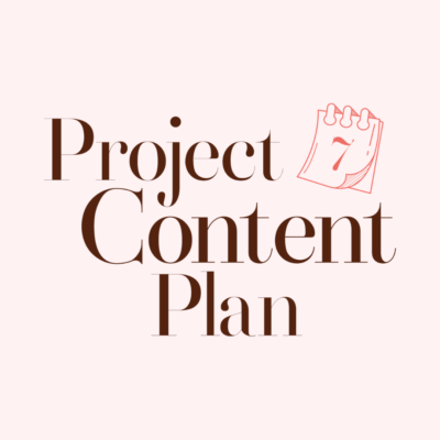 Project Content Plan
