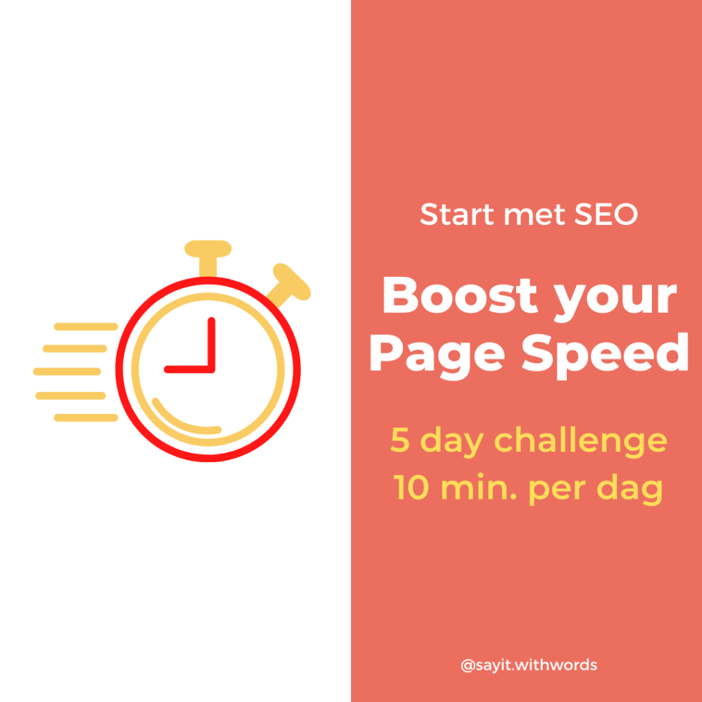 Boost your Page Speed Gratis Challenge