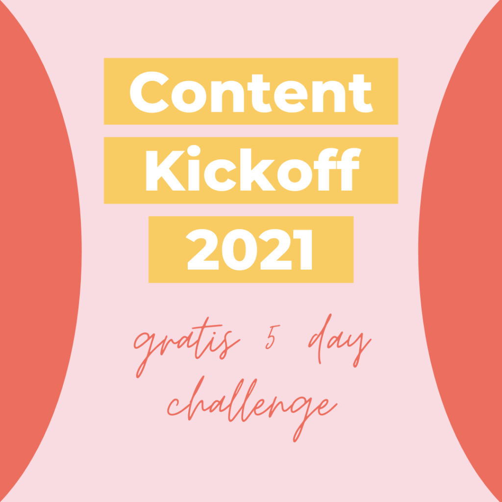 Content kickoff 2021 goal-setting